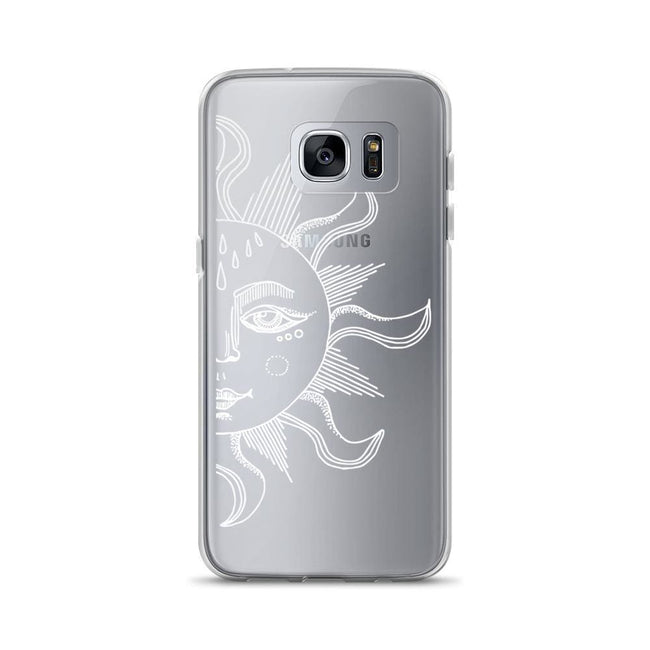 Half Sun Clear Phone Case Samsung Galaxy S7E / Side 2