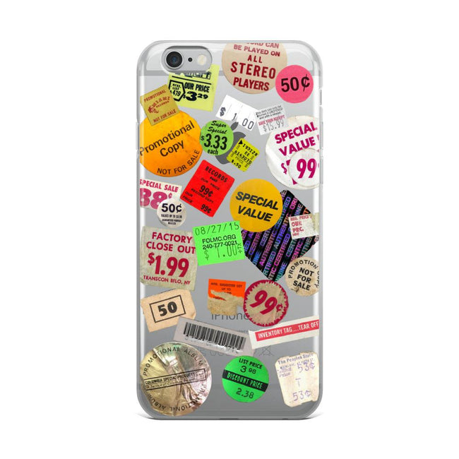 Grunge Aesthetic Stamps Clear Phone Case iPhone 6 Plus/6s Plu exclusively at The Urban Flair