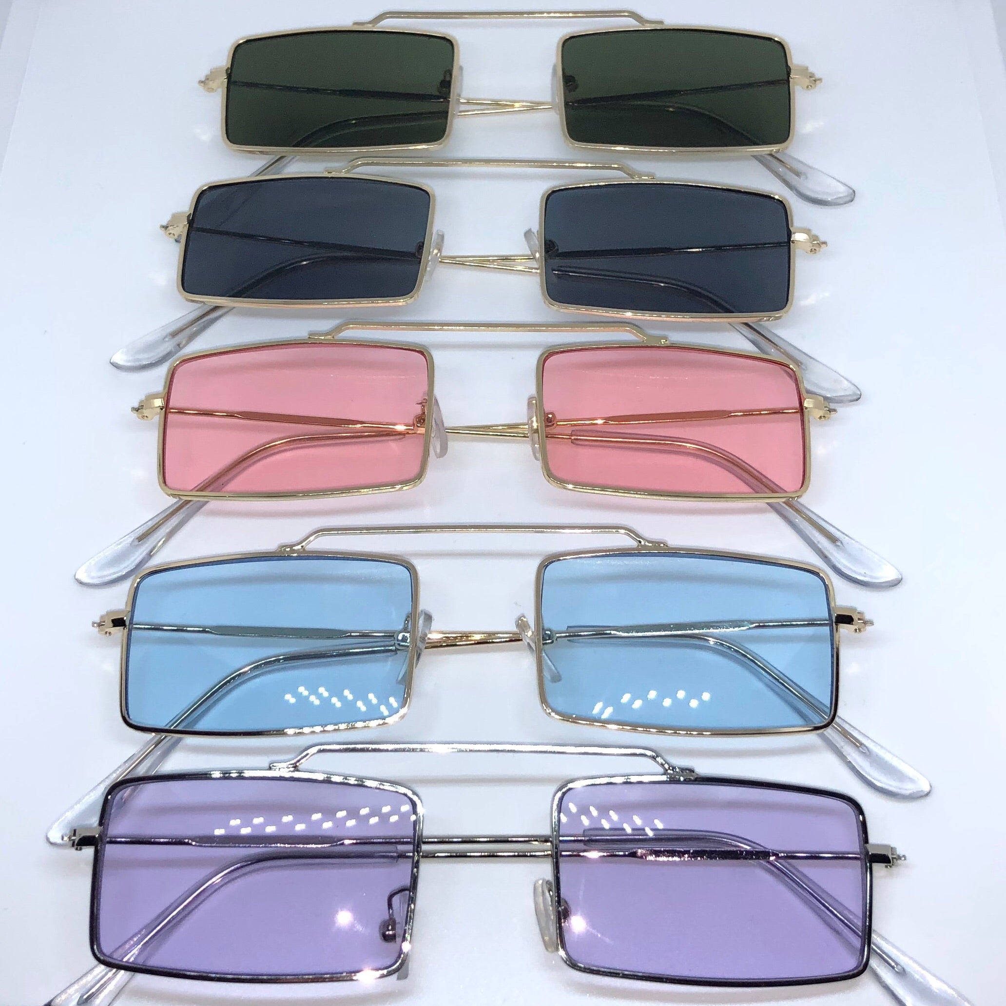 Rectangle Wire Frame Sunglasses