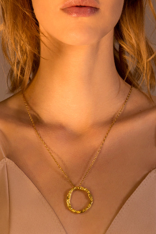 Necklace 'Soleil' sterling silver goldplated