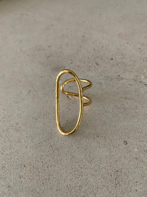 Ring 'Beau' sterling silver goldplated