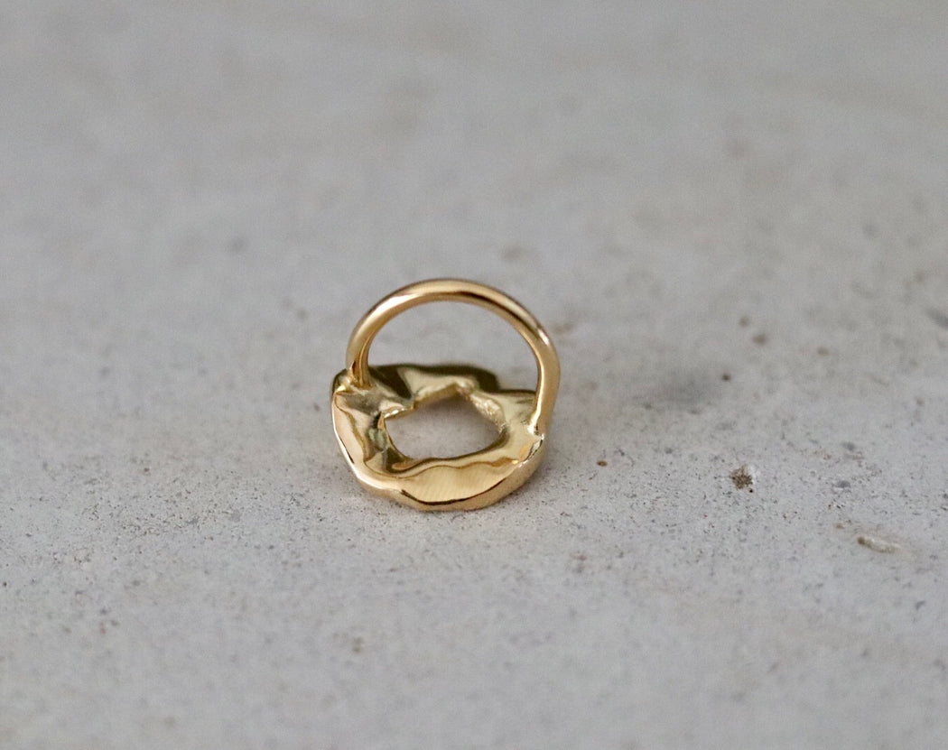 Ring 'Beata' sterling silver goldplated