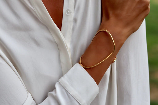 Bracelet 'Anthea' sterling silver goldplated