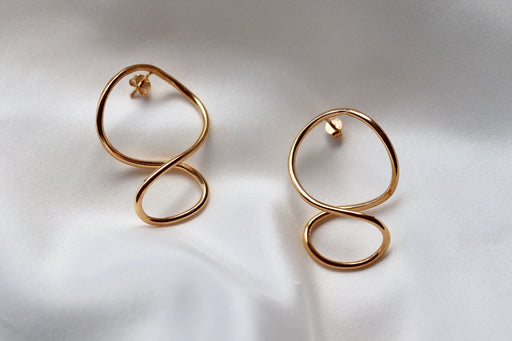 Earrings 'Autumn' sterling silver goldplated