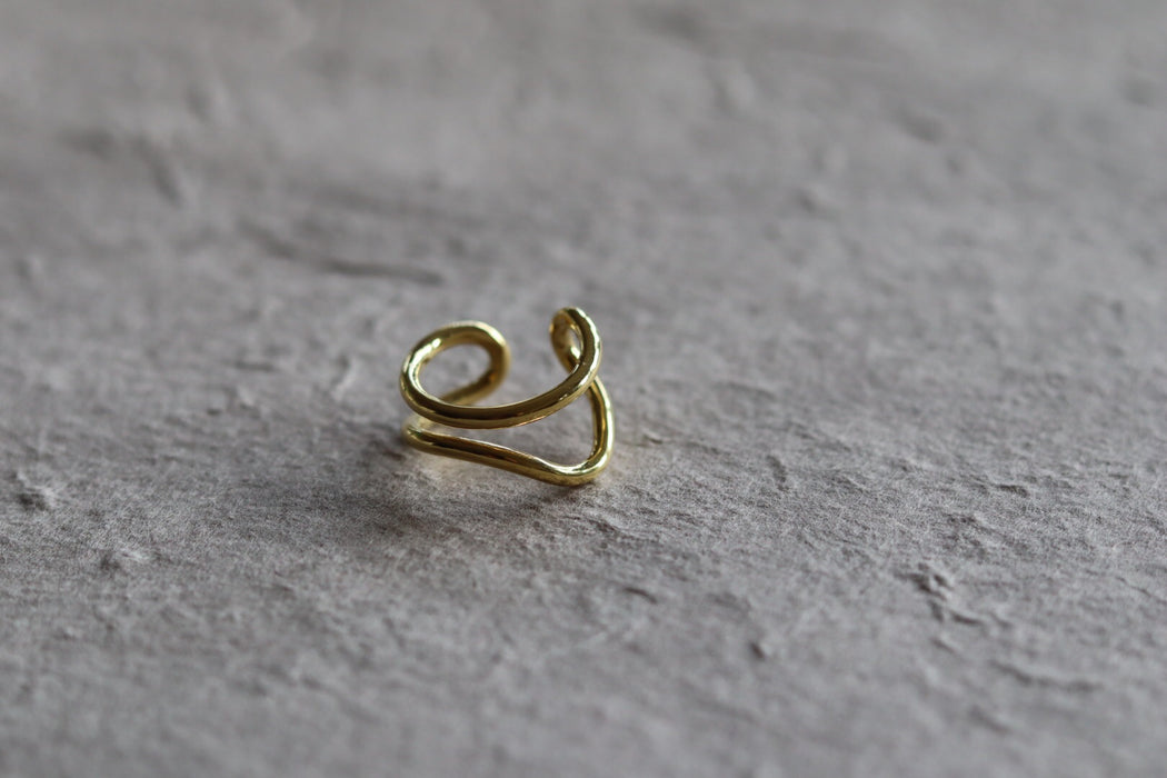 Ring 'Lounge' sterling silver goldplated
