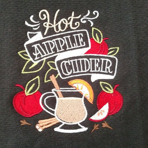 Chalkboard Apple Cider Kitchen Towel