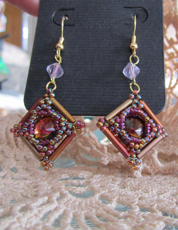 Framed Fire Earrings