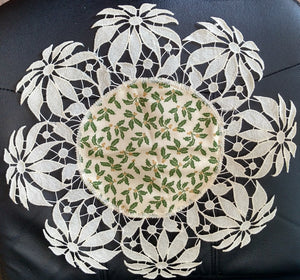 Cream Poinsettia Doily