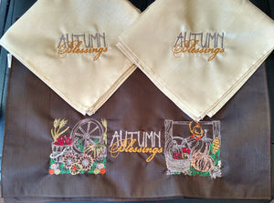 Autumn Blessings Placemat & Napkin Set of 4