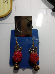 Raspberry Earring