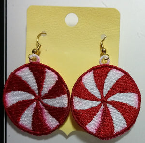 Freestanding Lace Peppermint Earrings