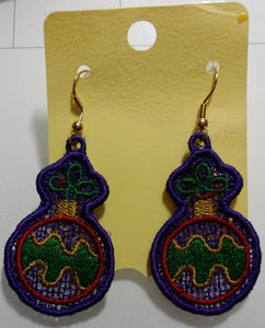 Freestanding Lace Christmas Earrings