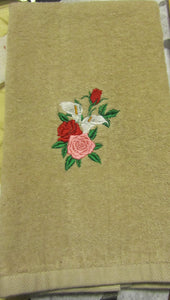 Calla Lilies and Roses Hand Towel