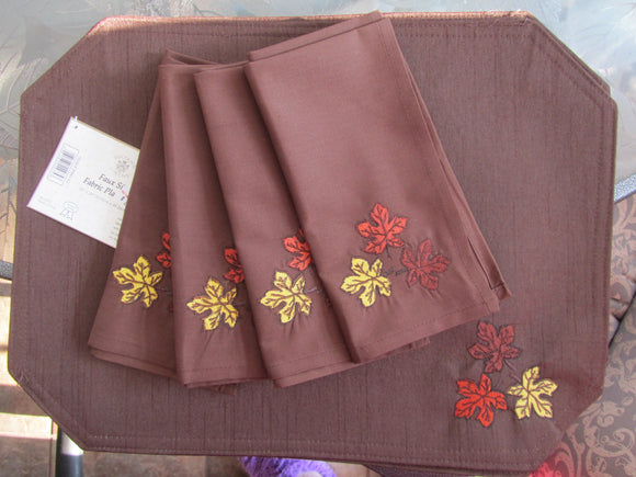 Fall Placemats and Napkins Set of 4