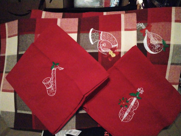 Christmas Placemat Set of 2 Napkins Set of 2