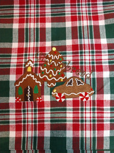 Plaid Table Runner - Gingerbread