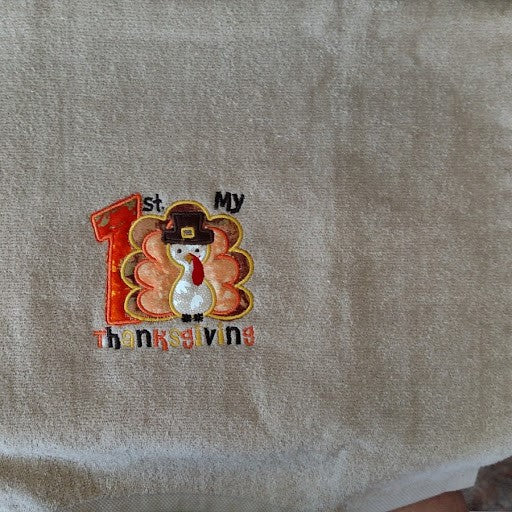 1st Thanksgiving Hand Towel
