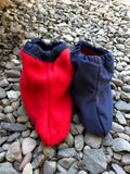 Littlies Navy/red shoe covers