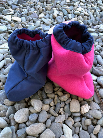 Not-so-Littlies Navy/pink shoe covers