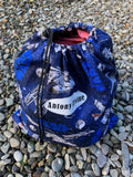 Blue Starwars Waterproof Wet Bag Backpack