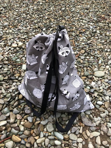 Grey Foxes Waterproof Wet Bag Backpack