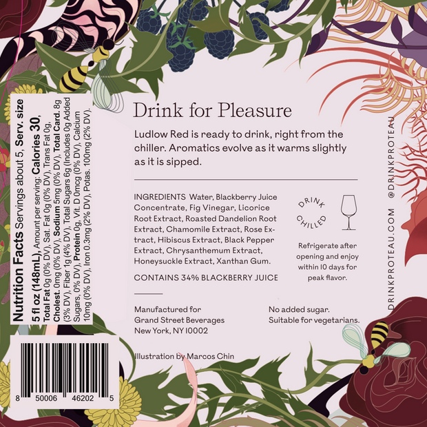 zero proof -botanical drink - non alcoholic drinks - 2-Pack Ludlow Red - Proteau