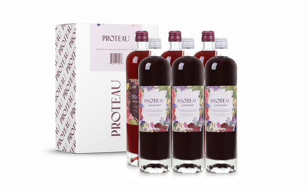 zero proof -botanical drink - non alcoholic drinks - 6-Pack Mixed (3 Ludlow Red, 3 Rivington Spritz) - Proteau