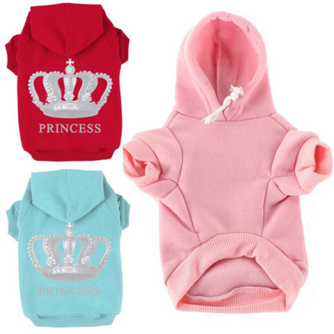 Winter Pet Small Dog Clothes Puppy Hoodie Warm Coat Clothing Fashion Letter Print Costume