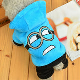 Winter Warm Pet Dog Clothes Soft Fleece Hooded Pet Costume Puppy Coats Outfit Dog Clothes For Small Dogs Chihuahua Pet Clothing