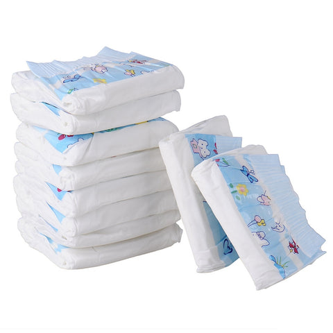 10pcs Super-absorbent Pet Diapers Dog Health Pants Dry and Breathable Nappy Packs Dog supplies XS/S/M/L