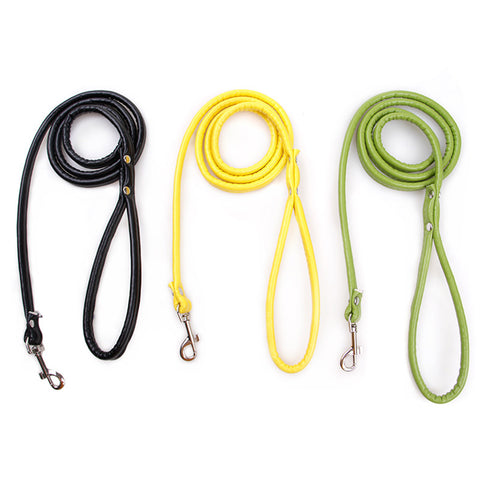 11 Colors Pet Cat Leash Soft PU Leather Leash for Puppy Dogs Cats Small Pet Walking Leads Kitten Products Fast Shipping 47 inch