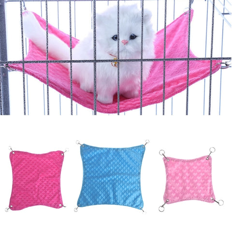 Small Pet Dog Hammocks Goods Rat Rabbit Hamster Cat Cage Hanging Bed Supplies Color Random Delivery-m18