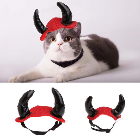 Pets Cap Antler Costume Hat Cosplay Dog Cat Puppy Hair Accessories For Halloween Pet Supplies