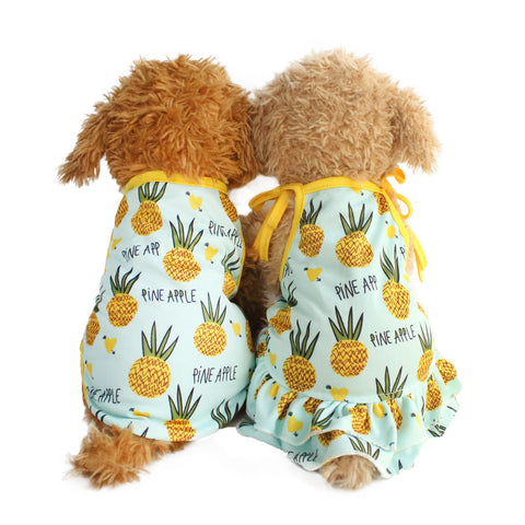 Summer Lovers Dog Dresses Pineapple Pattern Vest For Dogs Dress 6071086 Pet Clothing Supplies XS S M L XL