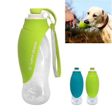 Pet dog accompanying water cup Outing supplies outdoor water drinking fountain Portable water bottle leaf water bottle