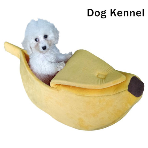 Creative Banana-shape Pet Dog Cat Bed Soft Warm Kennel Pet Supplies Decoration Pets Bed