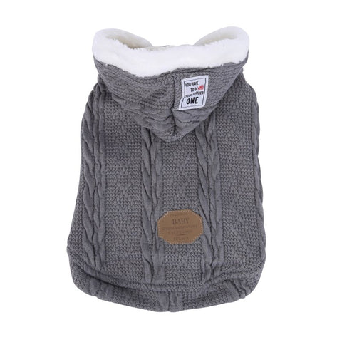 Autumn Winter Pet Dog Clothes Warm Knitting Acrylic Dog Coat Jackets Sport Style Puppy Hooded Clothing For Small Medium Dogs