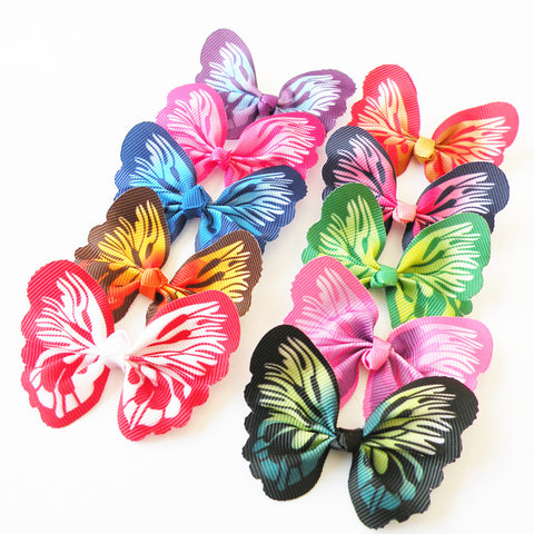 10pcs New Pet Puppy Dog Cat Hair Bows Beautiful Butterfly Bows Pet Dog Grooming Hair Accessory Topknot Pet Supplies
