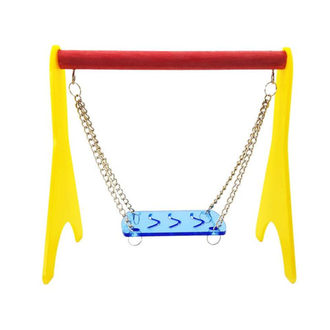 Colorful Plastic Hamster Toy Swing Hammock Elastic Durable Parrot Chew Bite Toy Birds Perch Standing Toy Pet Supplies