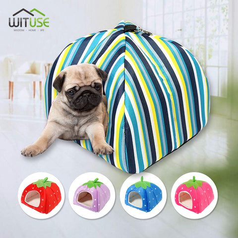 WITUSE S M L XL XXL Warm Dog Pet Puppy Kennel Removable Dog House Cat Nest Mat for Small Medium Dog Pet Puppy Bed Pet Supplies