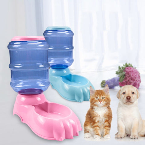 Automatic Pet Food Dispenser Dog Cat Feeder Food Bowl Dish 3.8L Pet Supplies New