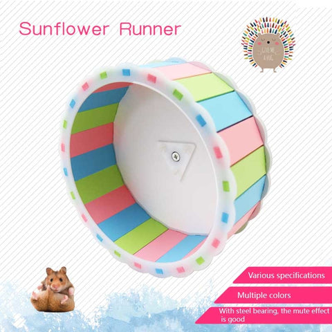 1 Pcs Pet Hamster Running Wheel Toy Roller Round Silent Cage Supplies Exercise Accessories E2S