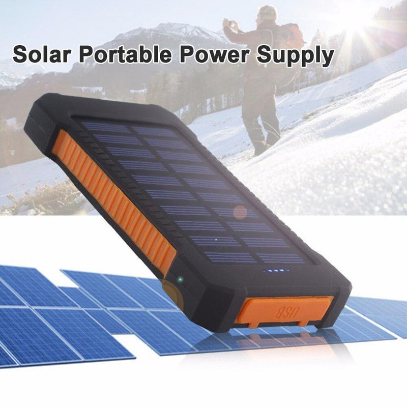 Solar Waterproof Power Bank with Flashlight