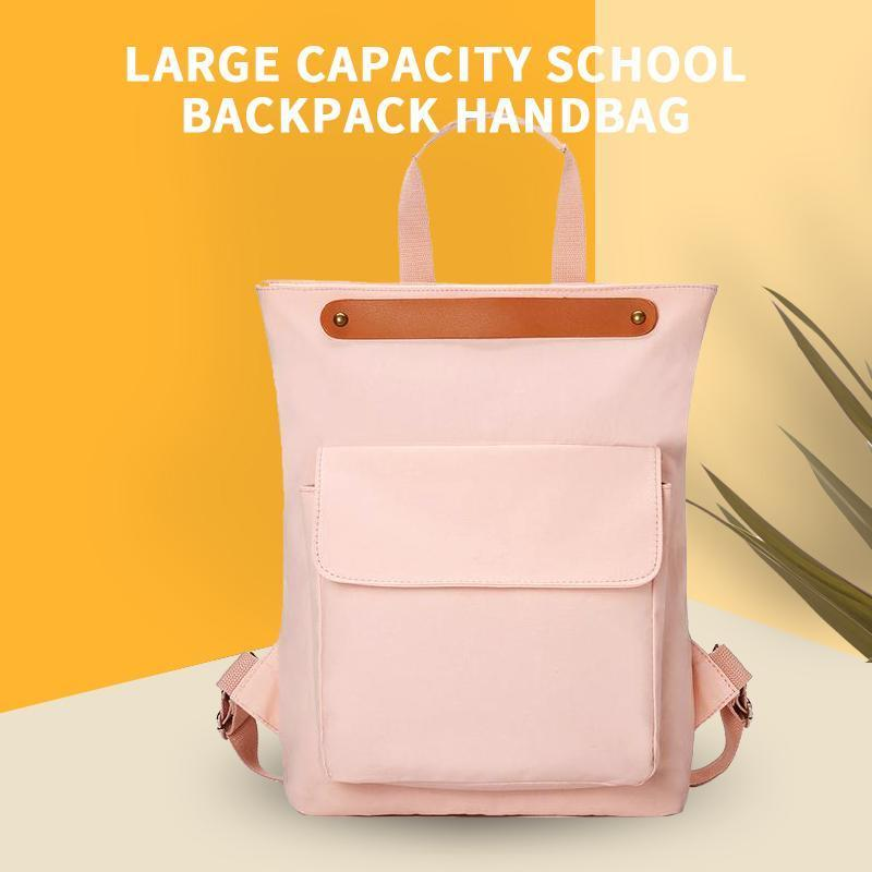 Large Capacity School Backpack Handbag