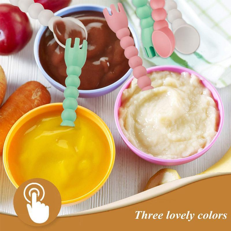 Baby Feeding Set Spoon and Fork( Set Of 3 )