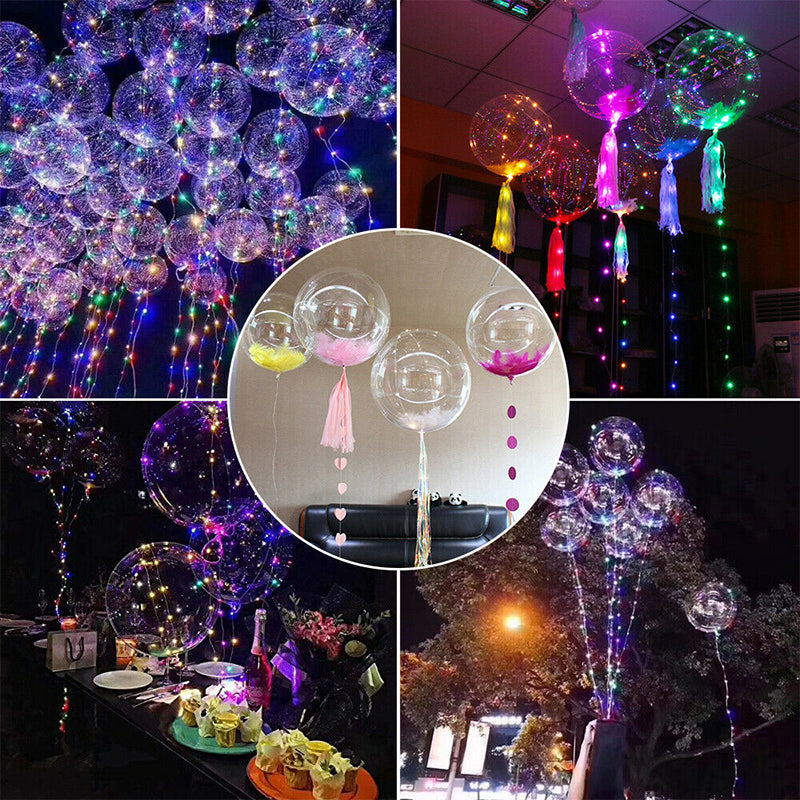 Christmas Party Balloons with LED String Light