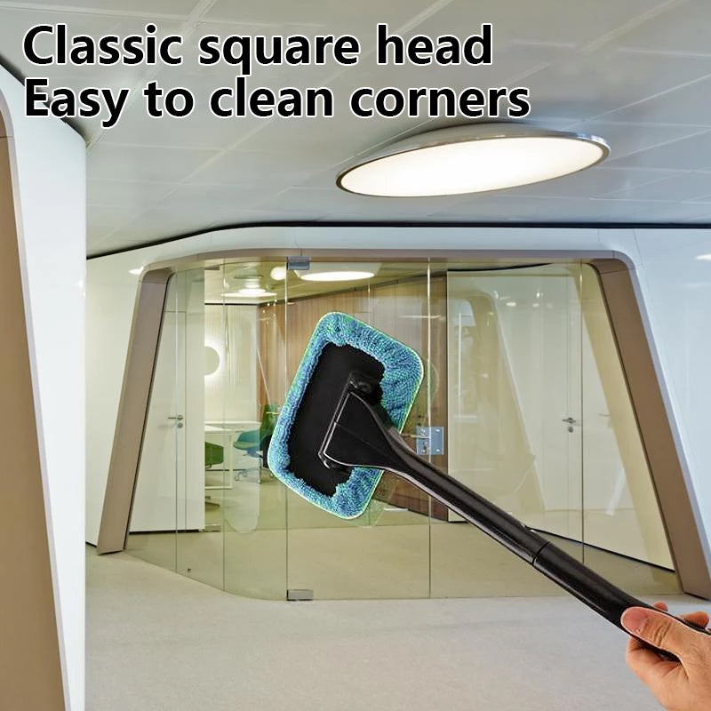 Windscreen Cleaner, with reusable microfiber hood