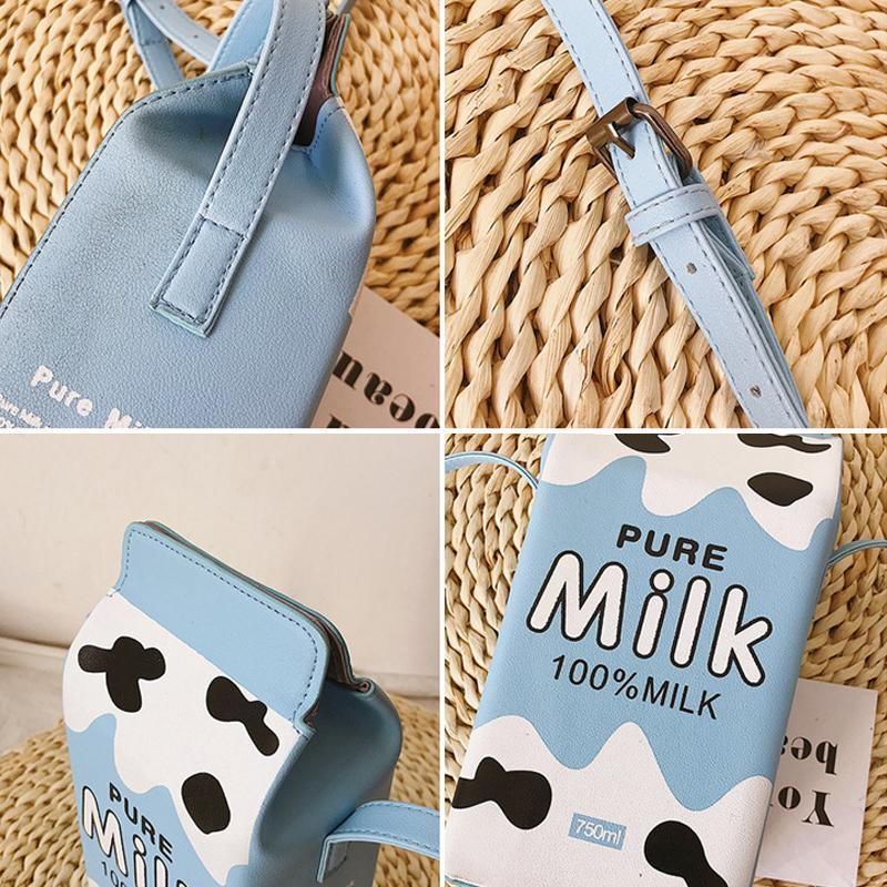 Cute Milk Box Crossbody Bag / Casual Phone Purse