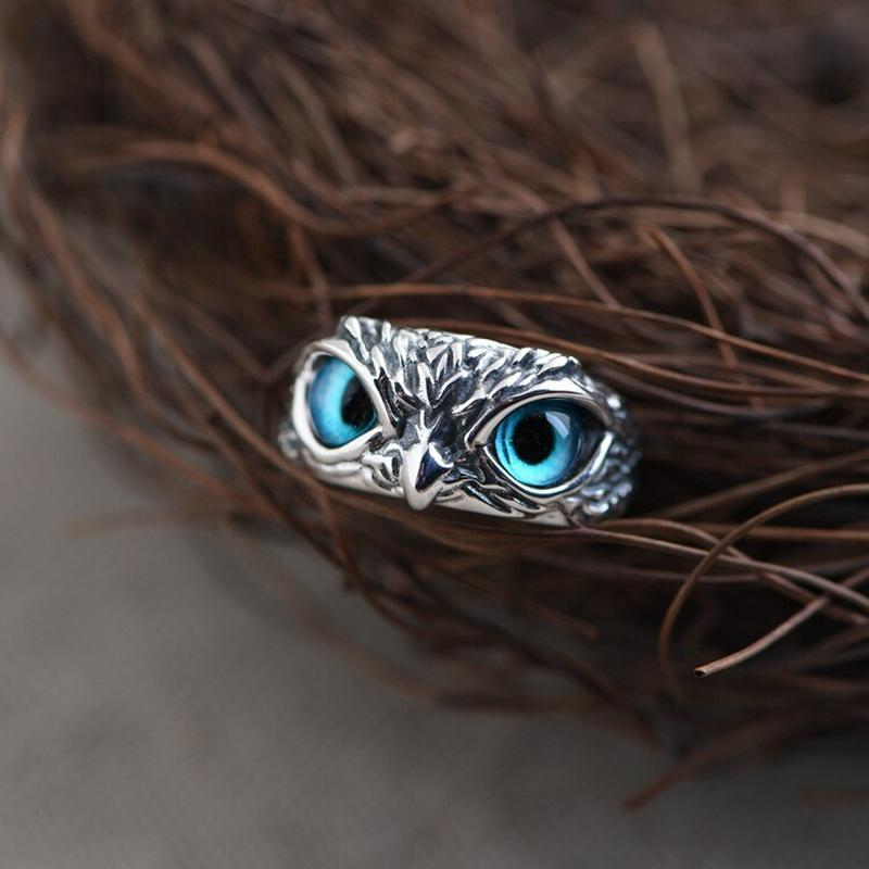 Eye Owl Ring Adjustable