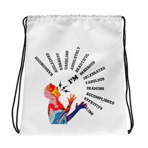 "The ""I'm"" Drawstring bag"